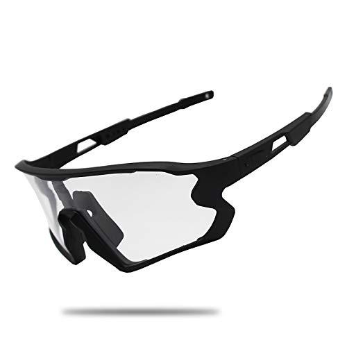 ZLUCKHY Gafas De Sol Fotocromáticas para Hombres, Mujeres, Gafas De Bicicleta, Protección 100% UV para Deportes Al Aire Libre, Ciclismo, Conducción, Pesca, Gafas para Correr,B