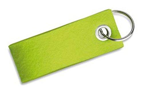 p&m Schlüsselring mit bunten Anhängern aus Filz - Anhänger (limettgrün) von presents & more