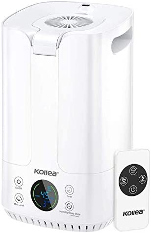 Kollea Humidifiers with Fan Top Fill 4L Ultrasonic Cool Mist Humidifier for Large Rooms Air product image