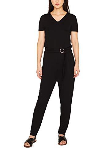 ESPRIT Damen 079Ee1L001 Jumpsuit, Schwarz (Black 001), Medium (Herstellergröße: M)