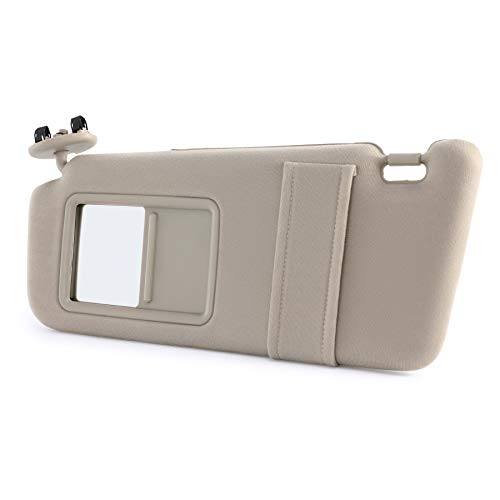 Orion Motor Tech Driver Side Beige Sun Visor for Toyota Camry 2007 2008 2009 2010 2011 Without Sunroof