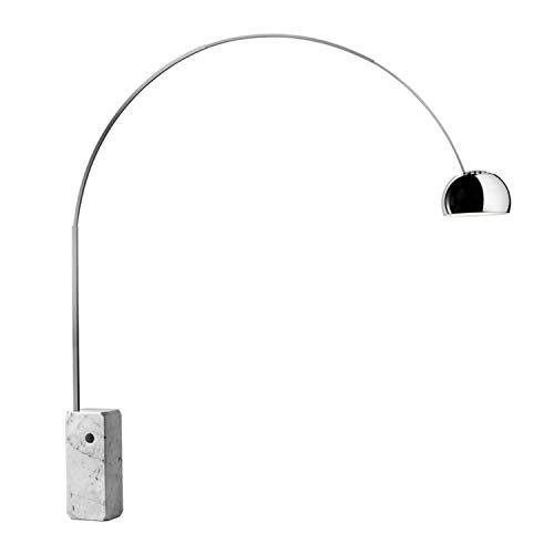 Lámpara de pie con base de marmol y multichip, colección Arco led, 32 x 220 x 240 centímetros, color cromo (referencia: F0303000)