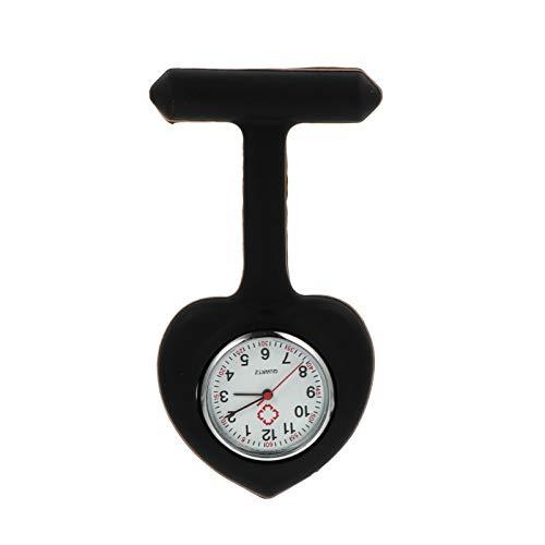UKCOCO Enfermera Relojes Clip de Plástico en Relojes de Enfermería Pin de Solapa en Broche Relojes Fob Relojes Colgantes Redondos para Decoración