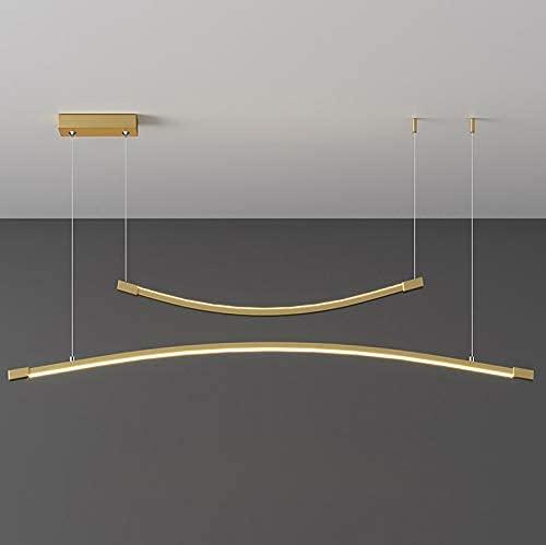 BABYCOW Lámpara de araña de Restaurante de diseño nórdico Barra de luz Minimalista Luz de Techo Decorativa romántica y cálida Lámparas Modernas Regulables de 3 Colores Lo Mejor para el Estudio de la