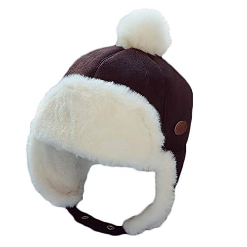 Dai Mai Winter Hats Kids Aviator Earflaps Cap Winter Bomber Hats Lei Feng Caps Ski Thickened Cold-Resistant Snow