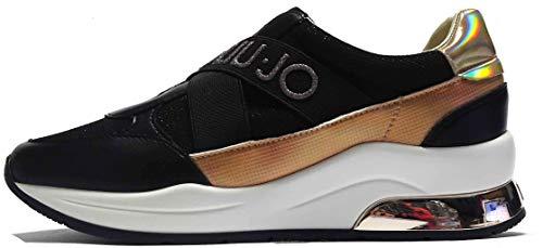 Liu Jo Karlie 4A0721EX03022222 - Zapatillas deportivas para mujer, color negro, color Negro, talla 35 EU