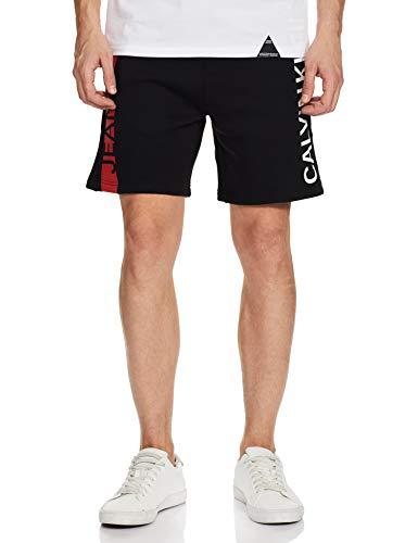 Calvin Klein Stripe Institutional HWK Short Shorts, Nero (CK Black Bae), W32 (Taglia Produttore: Medium) Uomo