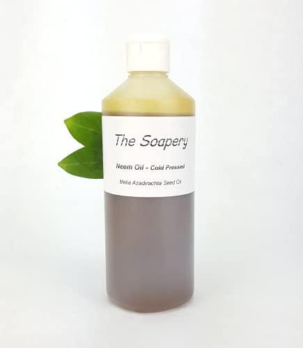 Huile de neem vierge pressée à froid, non raffinée et 100 % naturelle 500 ml