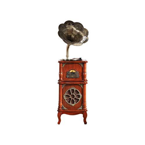 AGGL Grammophon, platenspeler platenspeler vintage decoratieve meubels 33/45/78 omw/min ondersteuning USB-aansluiting Bluetooth afspelen CD RCA-uitgang