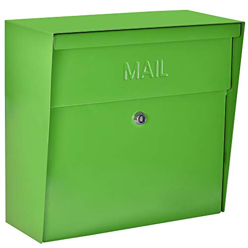 Mail Boss 7116 Metro Locking, Green Wall Mounted Mailbox
