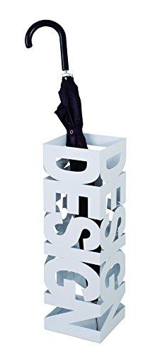 HAKU Porte-Parapluie en métal laqué Blanc, 16x16x48