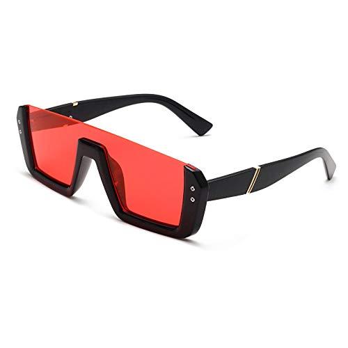 Vibner Gafas de Sol Gafas De Sol Cuadradas De Medio Marco Mujeres Hombres Oversize Retro LuxuryRectangle Eyewear Uv400 C4