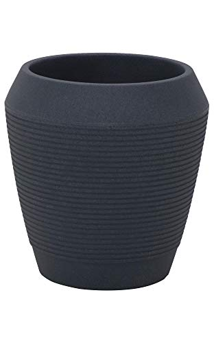 Tramontina Pflanztopf EGIPCIO, Übertopf aus Kunststoff, Farbe Graphite, Ø 43,5 x H 45 cm, Volumen 40 Liter