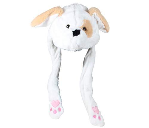Gorro con Orejas Que se mueven Perro Blanco Animales de
