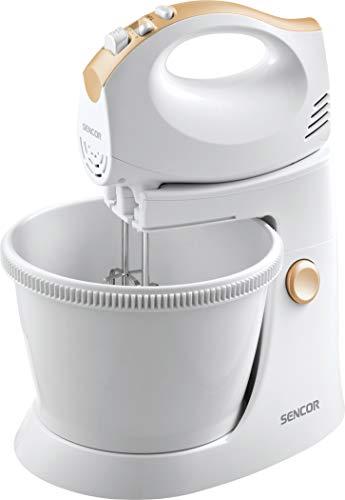 SENCOR SHM 5330 Handmixer mit Rührschüssel, Plastic, Weiß