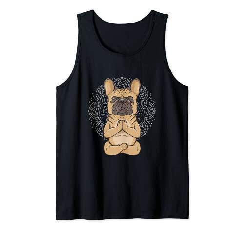 Frenchie Meditation French Bulldog Spirituality Cute Animal Tank Top
