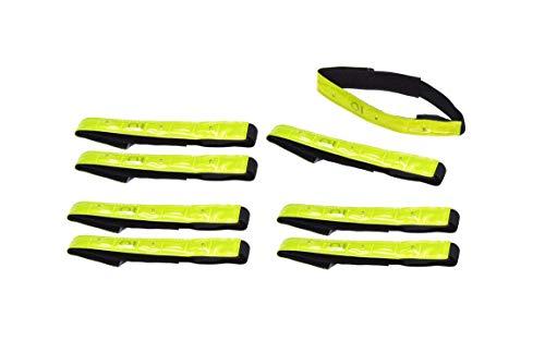 Filmer 8 Stück Sicherheits Reflektorbänder Reflektorband LED Fahrrad Sicherheits Armreflektoren