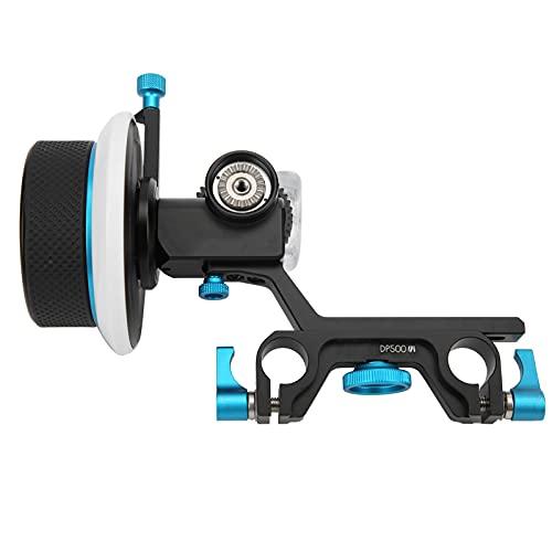 Mxzzand Camera Follow Focus Cámara DSLR Videocámara Gear Flexible Gear Belt Speed Crank para 15mm Rail Rod Rig