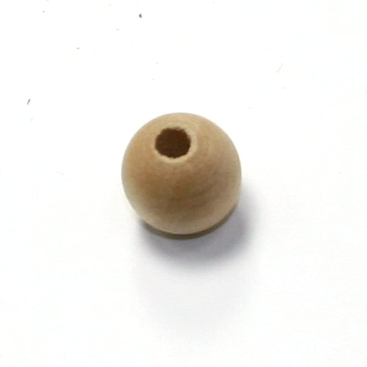 Mylittlewoodshop Pkg of 100 - Bead Round - 1/2 inch in diameter with 5/32 hole unfinished wood (WW-BE1030-100)