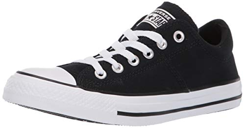 Converse Women's Chuck Taylor All Star Madison Low Top Sneaker, Black/White/Black, 9.5 M US
