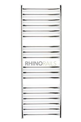 rhinorails 1350 mm x 500 mm Ergo (flach), 500 Edelstahl Badheizkörper | Designer Beheizter Handtuchhalter | 25 Jahre Garantie