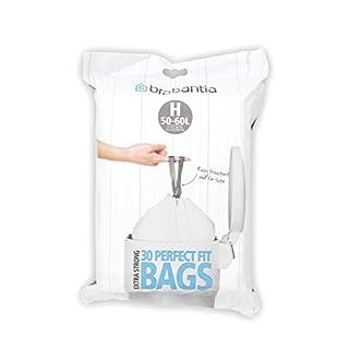 Brabantia Bin Liners, Size H, 50-60 L - 30 Bags (B00026LJRK) | Amazon price tracker / tracking, Amazon price history charts, Amazon price watches, Amazon price drop alerts