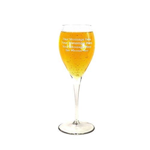 Tuff Luv Groß Personalisiert Monte Carlo Weisswein Wießweinglas, Bleifreies glas, transparent, 450ml