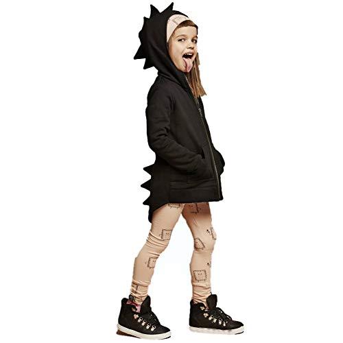 Aibeajoy Ropa de bebé para niños, ropa infantil, chaqueta de dragón, otoño, dinosaurio, manga larga, sudadera con capucha, para niños de 1 a 7 años Negro 130 cm