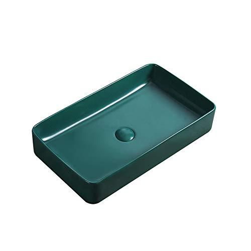 QuRong spoelbak, mat, groen, voor badkamer, toilet, toilet, waskunst, kan worden gebruikt voor hotel