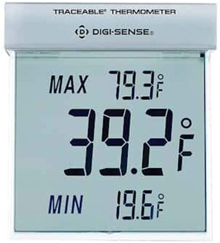 Digi Sense AO 90080 10 Calibrated Big Digit See Thru Digital Thermometer Fahrenheit