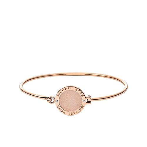 Michael Kors Women's Stainless Steel Bangle Bracelet 2 1/2' Inner Diameter pink