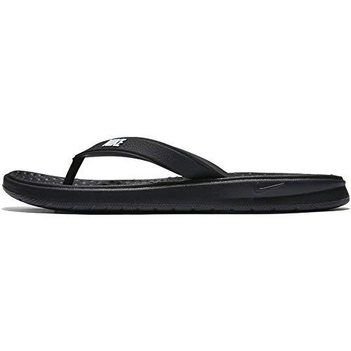 Nike Women's Solay Thong Flip-Flop, Black/White, 9 Regular US