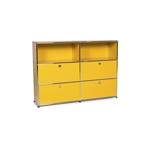 USM Haller Metall Sideboard Gelb Regal Büromöbel #11873