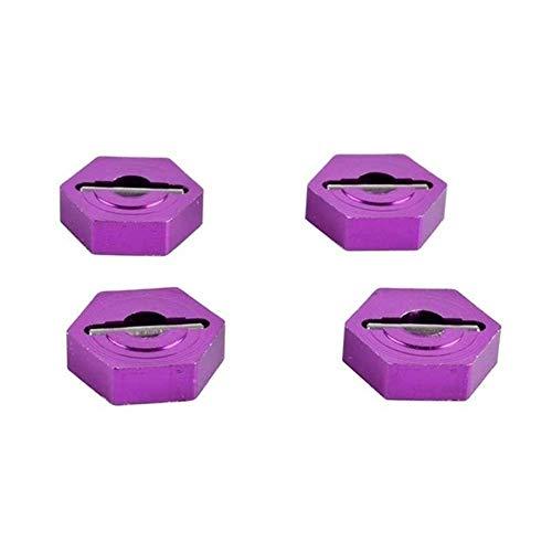 V-MAXZONE Durable RC A580040 - Rueda de aluminio hexagonal de 12 mm, para coche 1:18, A949, A959, A969, A979, k929, accesorios para coche (color: púrpura) (color: púrpura)