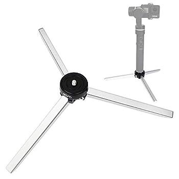 Livestream Gear-Aluminum Mini Tripod Tabletop Stand Monopod Compatible with DJI Ronin S SC/DJI OSMO Mobile 3 2/ Zhiyun Crane V2/Crane-M/Smooth 4/Smooth Q/Smooth 3/Moza Air/Mini-C Gimbal Stabilizer