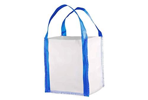 Hochwertiger BigBag 50x50x60cm Schüttgutbehälter Transportsack Entsorgung Gartensack Abfallsack * DIN EN ISO 21898 * Direkt beim Hersteller kaufen * 5 Stück
