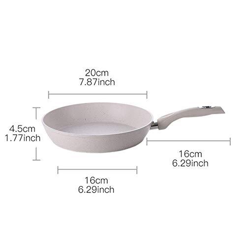 DIF Antistick Koekenpan Medical Stone Coating Chef's Koken Pans Met Hittebestendige Handvat Gebruik Voor Gas