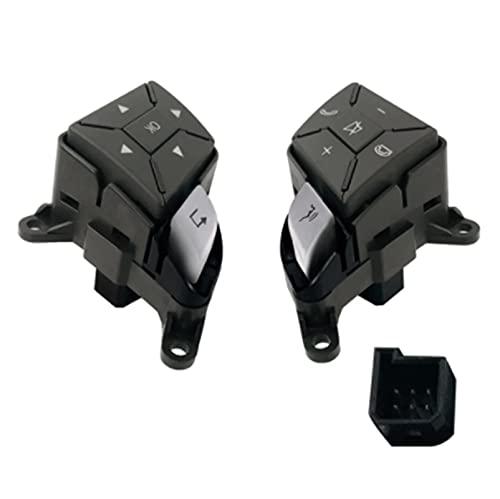 Impetuous A2185400362 A2185400262 FIT para Mercedes C W204 Interruptor de Volante del Volante Teléfono Volumen W212 W207 CLS63 (Color : Black)