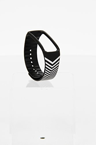 Ersatz Samsung designer Armband für Gear Fit / by nicholas kirkwood / black+silver chevron