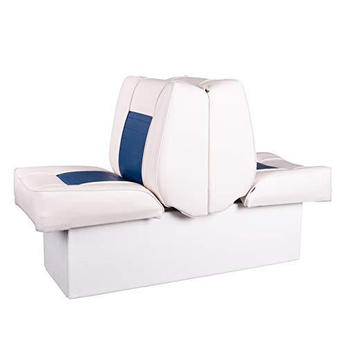 Ocean TEC 2 in 1 Back to Back Doppel Sitz und Liege mit Aufbewahrungsbox weiß-blau