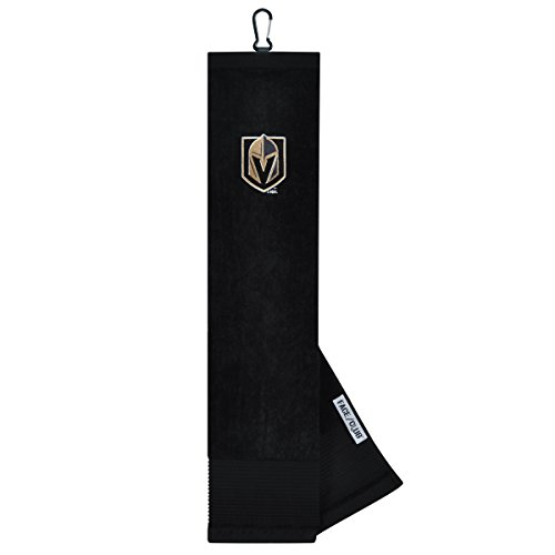 Team Effort Vegas Golden Knights Face/Club Tri-Fold Embroidered Towel
