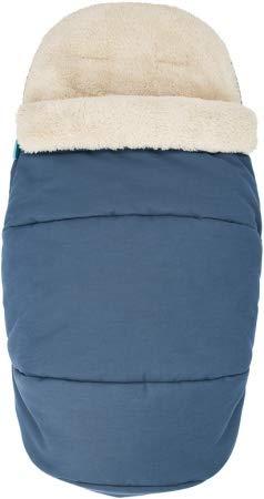 Maxi-Cosi Saco silla paseo invierno, saco cochecito bebé universal, forro polar interior protege al bebé del frío, del viento y de la lluvia, color essential blue