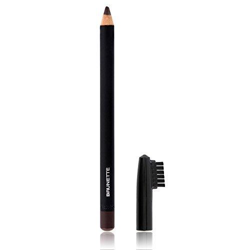 Crayon pour sourcils professionnel pour un look parfait, couvercle avait brosse, couleur brunette