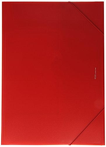 Plus Office B186-RD - Carpeta con solapas, A3, rojo
