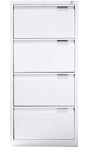CARPINTERIA EXTREMAÑOS Archivador metálico de 4 cajones Color Blanco de 47 de Ancho x 62 de Fondo x 132,1cm de Alto