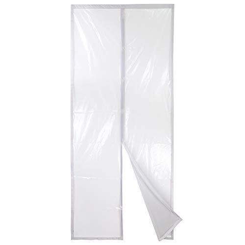 Apalus Isolier-Schutz-Vorhang, Magnet Wärmeschutzvorhang für Türen, Kälteschutz und Wärmeschutz im Winter, Ideal für die Nutzung von Klimaanlagen im Sommer, Kinderleichte Klebemontage, 90x210