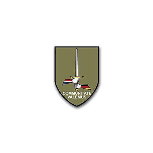 Stickers/Sticker - I Duits - Nederlandse korps GE-NL Corps Nederland Bundeswehr Heer Militair wapen badge embleem geschikt voor VW Golf Polo GTI BMW 3 Mercedes Audi Opel Ford (5x7cm) #A1590