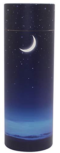UrnsWithLove Streu-Urne, umweltfreundlich, biologisch abbaubar, Sternennacht, groß