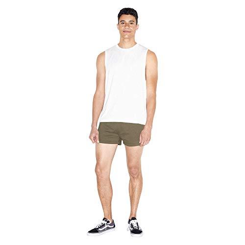 American Apparel Men's California Fleece Retro Short, Army, Small