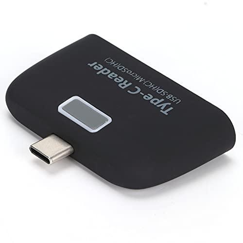 Lector de Tarjetas USB 2.0, Lector de Tarjetas OTG Carga rápida PD para teléfono y Tableta para Mouse, teclados, Discos Duros
